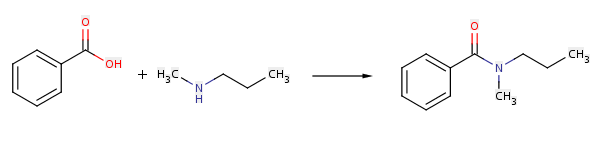 reaction between amine and acid